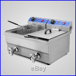 Commercial 20l Stainless Steel Electric Deep Fryer Fat Chip Kitchen 20 Litre