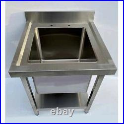Commercial 304 Stainless Steel Catering Kitchen Sink Single Bowl Deep Pot Wash