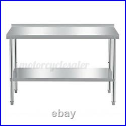 Commercial 3-5FT Stainless Steel Top Kitchen Catering Work Table Bench Worktop