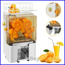 Commercial Auto Feed Orange Juice Machine Squeezer Stainless Steel 20-25pcs/min