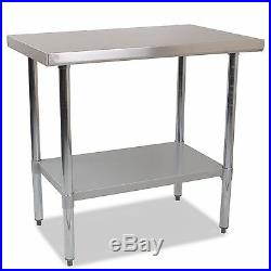Commercial Catering Grade Stainless Steel Work Bench Kitchen Top /Table 1500mm