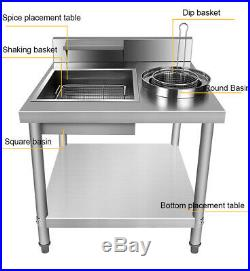 Commercial Catering Kitchen Fried Food Flour Prep Breading Table Stainless Steel