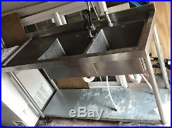 Commercial Catering Kitchen Stainless steel Sink Double bowl 1500mm