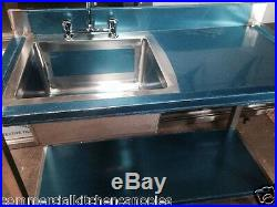 Commercial Catering Kitchen Stainless steel Sink, Single bowl, Right Hand1200x600