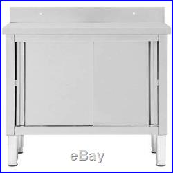 Commercial Catering Table Work Storage Bench Kitchen Worktop Stainless Steel NEW