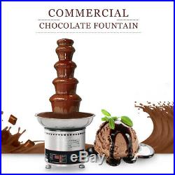 Commercial Chocolate Fountain Machine Stainless Steel Party Wedding Catering CE