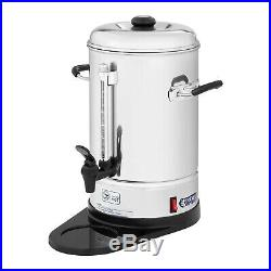 Commercial Coffee Maker Drip Tray Coffee Machine Percolator Stainless Steel 6L