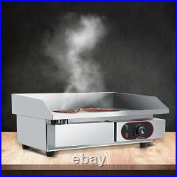 Commercial Countertop Electric Griddle Kitchen Grill BBQ Bacon Frying Pan 3000W