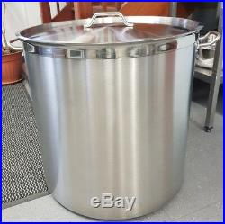 Commercial Deep Stainless Steel Stock Pot / Stew Soup Boiling Pan With Lid