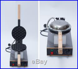 Commercial Electric Bubble Egg Stainless Steel Iron Waffle Maker FREE GIFT