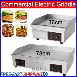 Commercial Electric Griddle Countertop Flat Pan Top Hotplate BBQ Stainless Steel