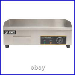 Commercial Electric Griddle Countertop Kitchen Hotplate BBQ Stainless Steel 55cm