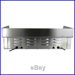 Commercial Electric Griddle Countertop Kitchen Hotplate BBQ Stainless Steel 73cm