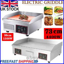 Commercial Electric Griddle Kitchen Large Hot plate Countertop BBQ Grill Bacon