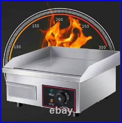 Commercial Electric Griddle Kitchen Large Hot plate Countertop BBQ Grill Egg UK