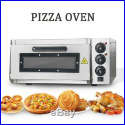Commercial Electric Pizza Toaster Oven Stainless Steel Baking Fire Stone CE 240v