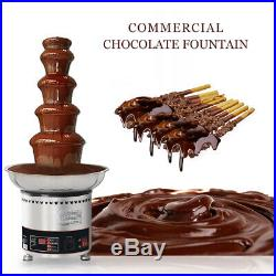 Commercial Five Layer Chocolate Fountain Fondue Machine Stainless Steel 4KG
