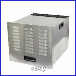 Commercial Food Dehydrator Stainless Steel 10 Tray BioChef NEW