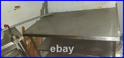 Commercial Food Preparation Kitchen Catering Table Stainless Steel, Backsplash