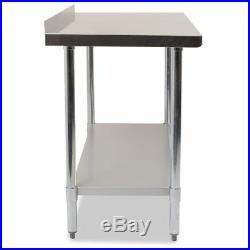 Commercial Full Stainless Steel Kitchen Food Prep Work Table Bench Various Width