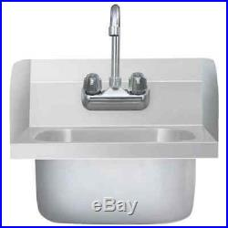 Commercial Hand Wash Sink with Faucet Stainless Steel Professiona Kitchen Basin