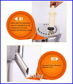 Commercial Juicer 750W Plywood Package Stainless Fruit Vegetable Extractor
