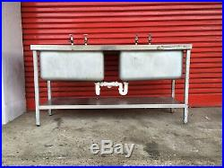 Commercial Kitchen Catering Stainless Steel Double Sink
