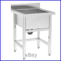 Commercial Kitchen Catering Stainless Steel Sink Handmade Wash Table Deep Bowl