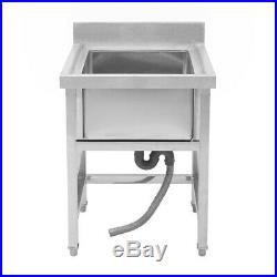 Commercial Kitchen Cleaner Stainless Steel 1 Sink Warewashing Drain Waste Outlet