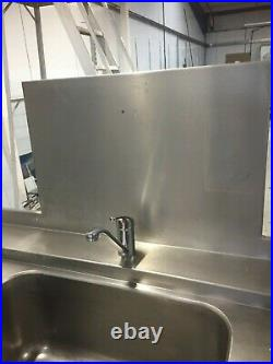Commercial Kitchen Double Sink 2.1 metres Stainless Steel