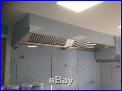 Commercial Kitchen Extraction Canopy / 430 grade stainless steel 2metres long