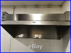 Commercial Kitchen Extractor Canopy Hood Stainless Steel Charcoal Filter