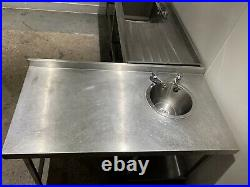 Commercial Kitchen Hand Wash Sink Stainless Steel Table Basin