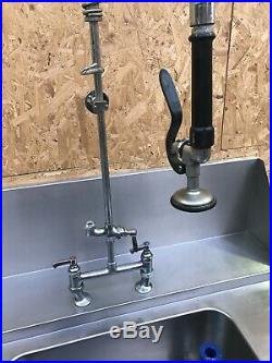 Commercial Kitchen Passthrough Dishwasher Sink with Shower tap