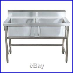 Commercial Kitchen Sink Double / Twin Bowl -Stainless Steel Catering Grade 304
