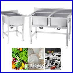 Commercial Kitchen Sink Stainless Steel Catering Bowl Handmade Wash Cleaning UK