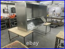 Commercial Kitchen Stainless Steel Canopy hood 1904mm x 1200mm extractor canopy