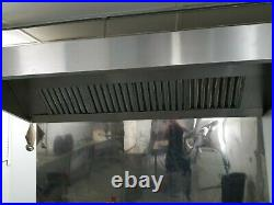 Commercial Kitchen Stainless Steel Canopy hood 8 foot. Extractor canopy
