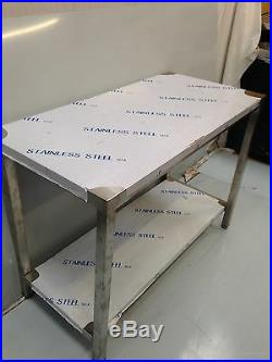 Commercial Kitchen Stainless Steel Catering Work Bench Table 6ft 1800x600