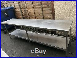 Commercial Kitchen Stainless Steel Catering Work Prep Table 2600x600
