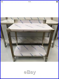 Commercial Kitchen Stainless Steel Catering Work Prep Table 2ft 600x600