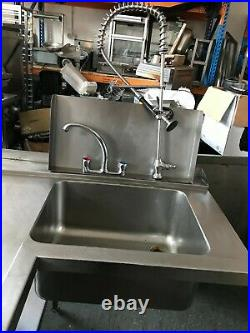 Commercial Kitchen Stainless Steel Corner Prep Counter With Sink