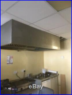 Commercial Kitchen Stainless Steel Extraction Canopy / Hood 1900 X 1200 X450