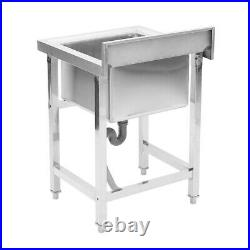 Commercial Kitchen Stainless Steel Single Bowl Sink Catering Basin Drainer Unit