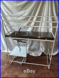 Commercial Kitchen Stainless Steel Sink Stand + Tap. Catering Trailer Burger Van