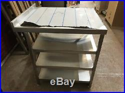 Commercial Kitchen Stainless steel Table with 3 under shelves 700x850x900