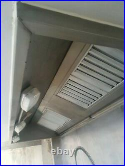 Commercial Kitchen stainless steel Canopy/Hood + sink