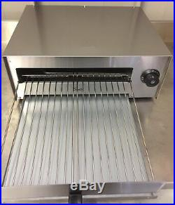 Commercial Pizza Oven, Electric Toaster Snack Grill 12 Inch Stainless Steel