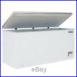 Commercial Polar Chest Freezer with Stainless Steel Lid 516Ltr Hinged 270W