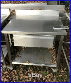 Commercial Prep Catering Table With Drawer Kitchen Stainless Steel On Wheels
